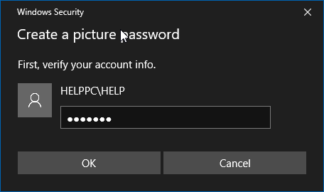 photo password feature windows 10