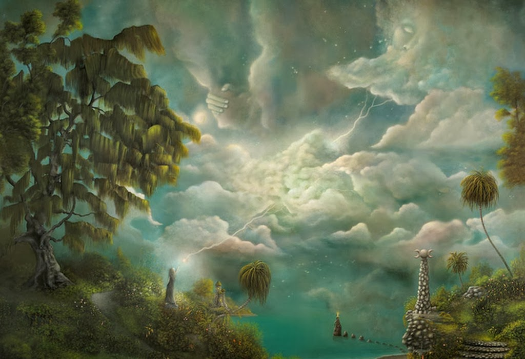 Im genes arte pinturas surrealismo pinturas paisajes al - Pinturas para suelos de garajes ...