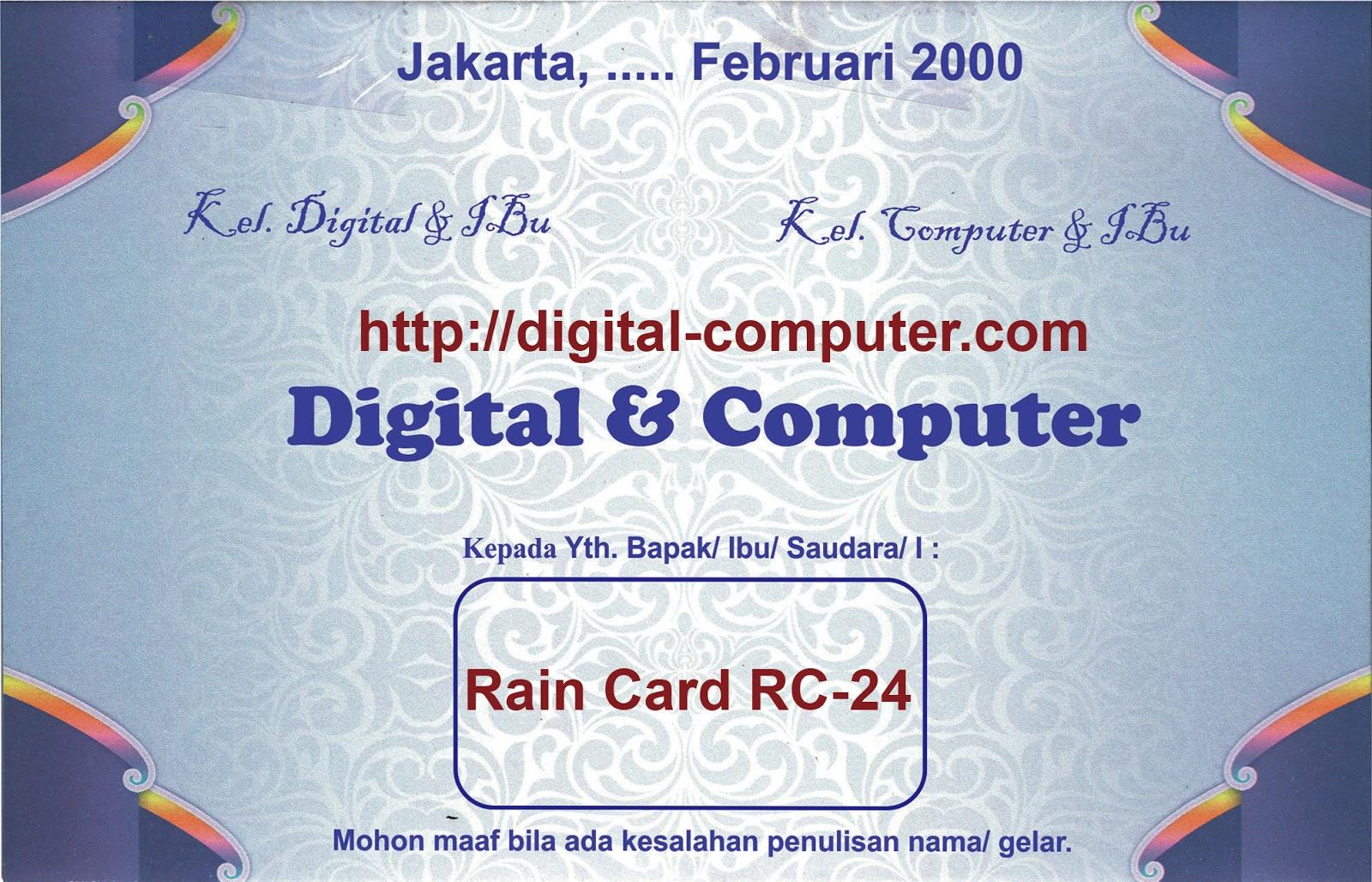 Undangan Softcover Rain Card RC-24