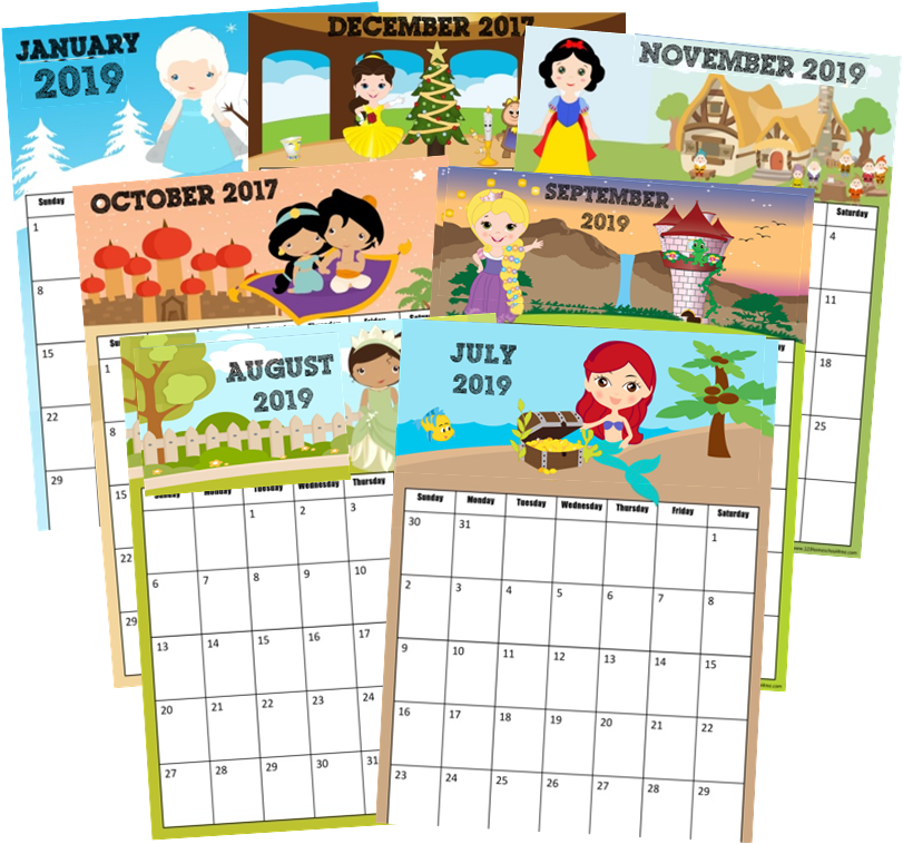 May The 4th Be With You Disney 2019: FREE Printable Princess Calendar