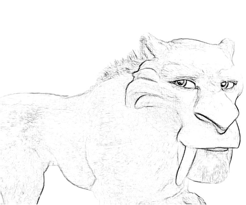 ice age diego coloring pages - photo#36