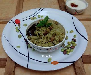 Hyacinth Beans Mint Rice