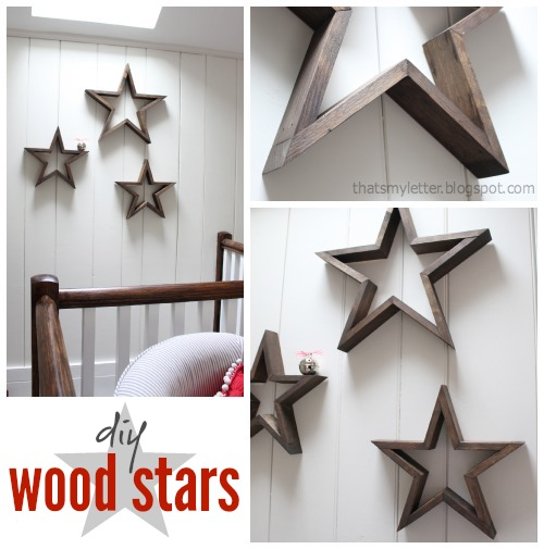 diy wood stars on wall