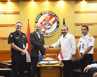Perkuat Keamanan Perbatasan Laut, Bakamla RI - ABF Resmi Tanda Tangan Kerja Sama