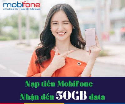 Mobifone khuyến mãi nạp tiền tặng data ngày 29/11/2017