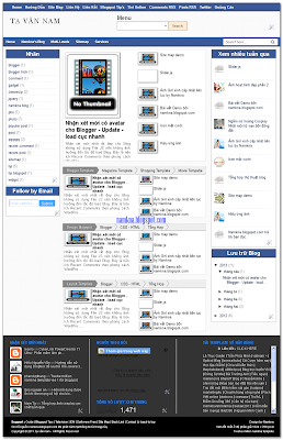 Twelve million namkna template 3 cột ves 1 for blogspot