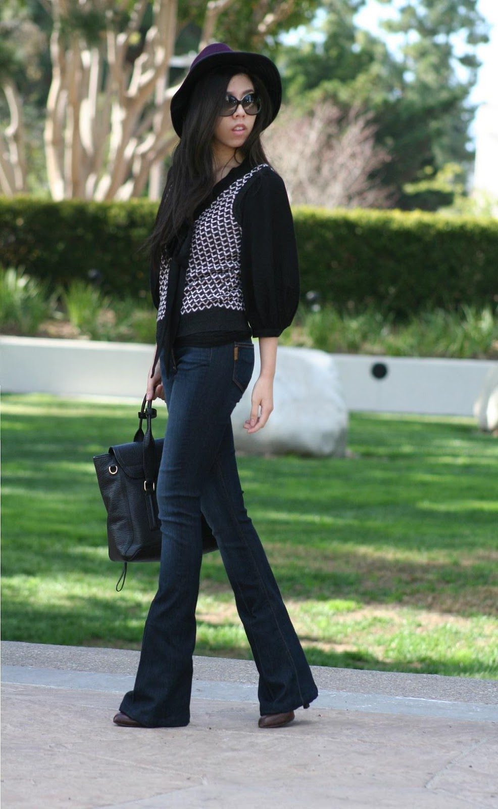 What to Wear with A wool Fedora During Fall or Winter - Adrienne Nguyen