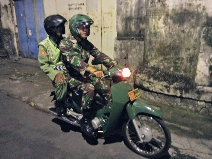 Pasca Pemilu 2019, Piket Koramil 03/Serengan Lakukan Patroli Malam