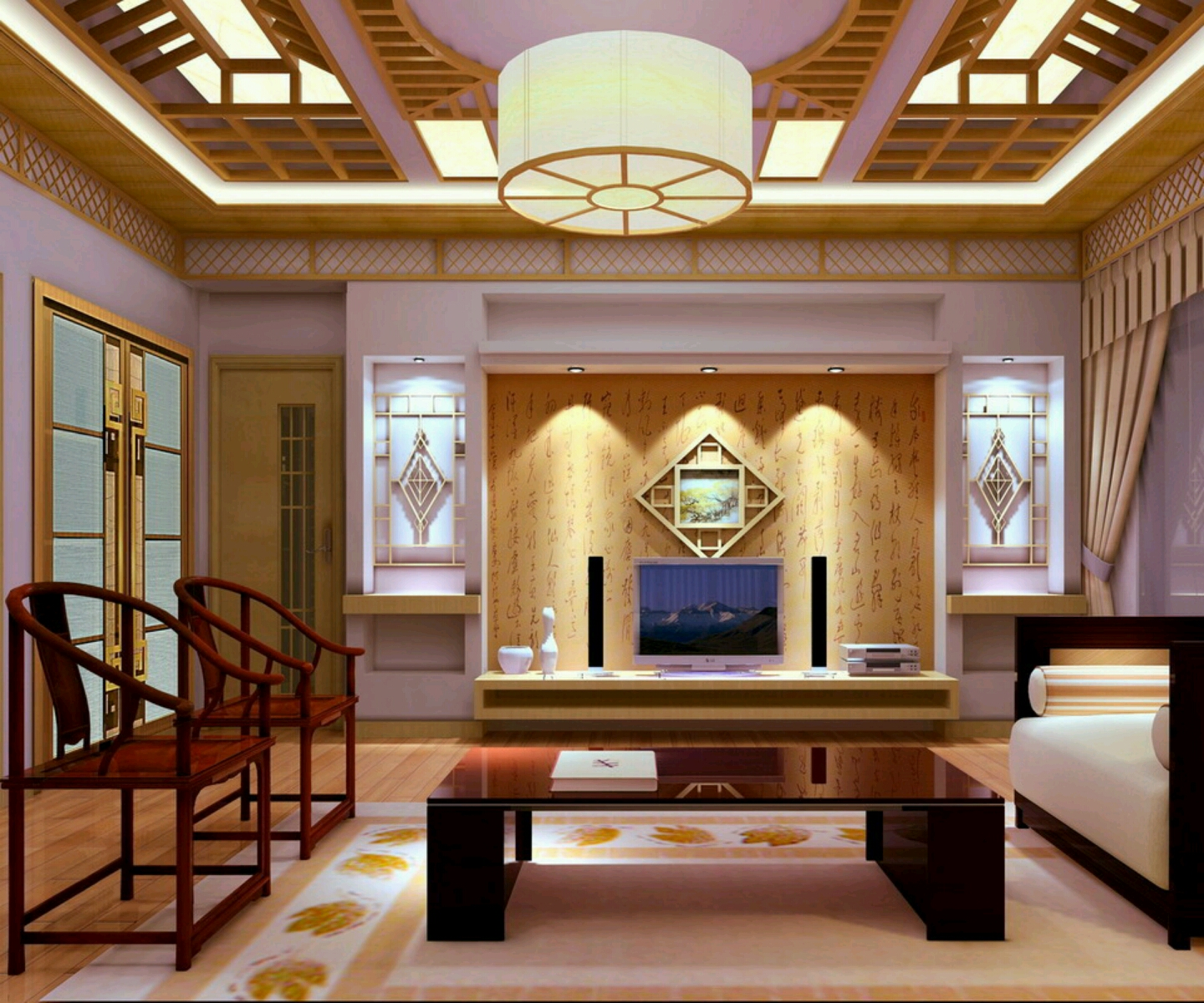 New home designs latest homes interior designs studyrooms for Home plans with interior photos