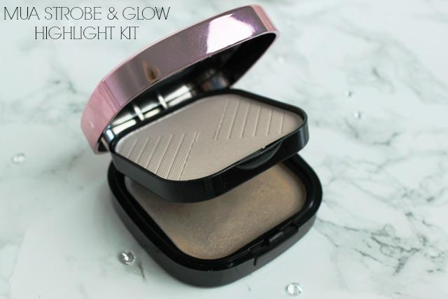 MUA Luxe Strobe & Glow Highlight Kit, Pearl Gold