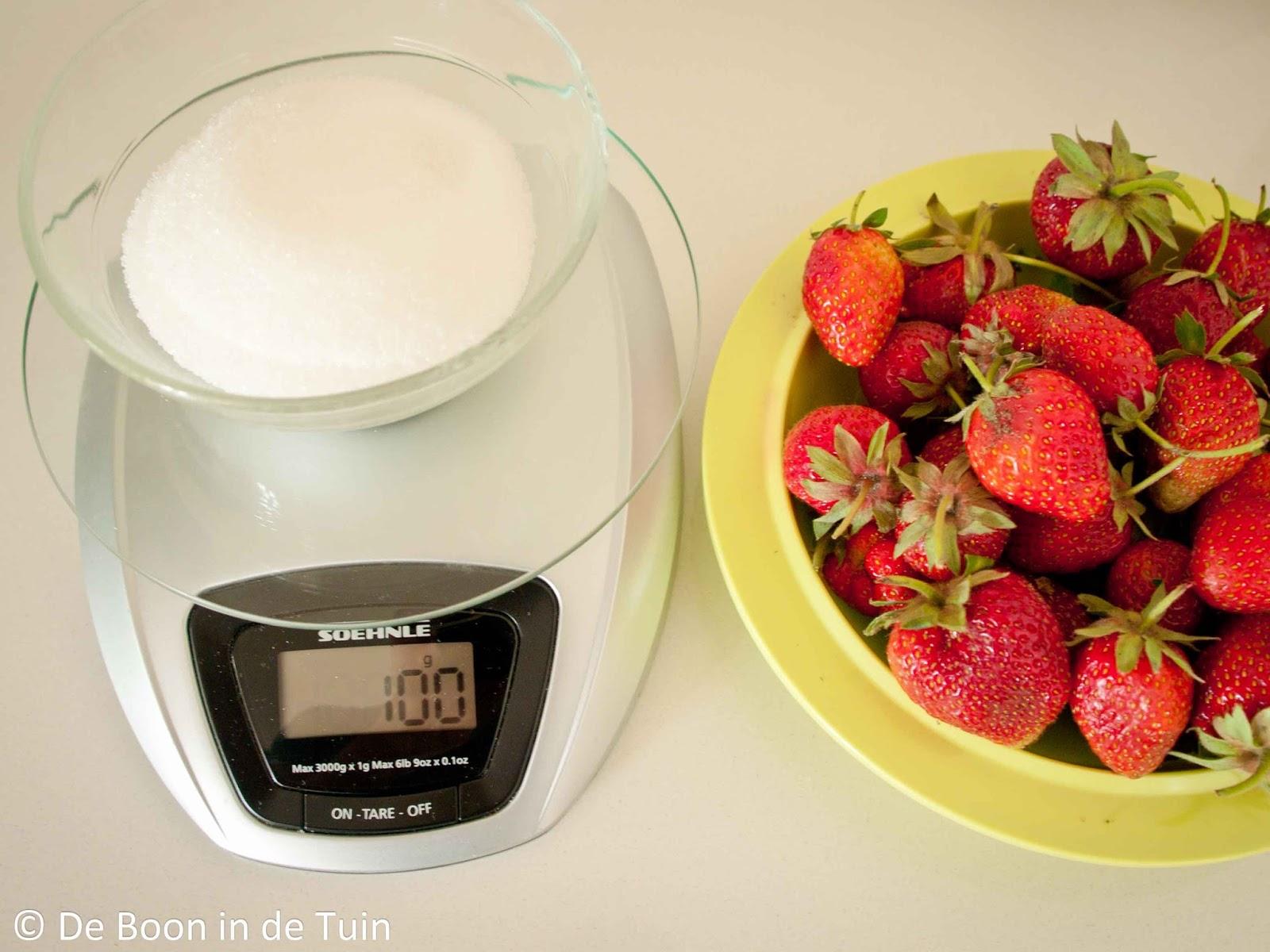 suiker afwegen inmaken wecken