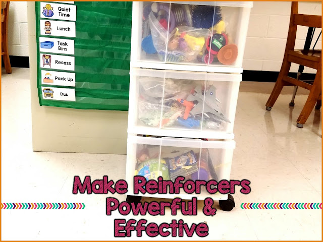 Using reinforceres effectively in special education will help you shape student behavior and make your classroom run smoother. The key is to follow these steps to make sure that the reinforcers are powerful and as highly motivating as possible.