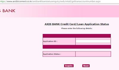 Axis Bank Car Loan Status