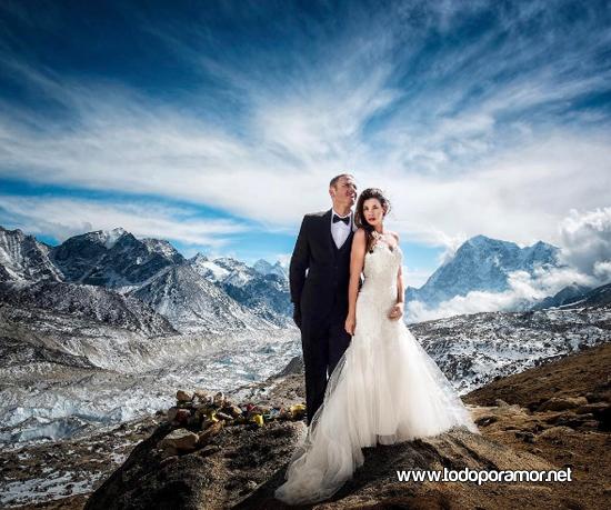Un casamiento en la cima del mundo