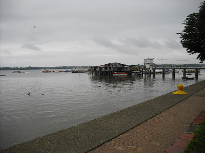 A view of the little port from next to the seaside park