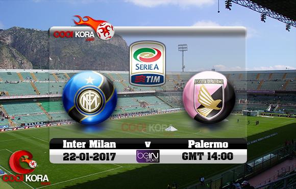 مشاهدة مباراة باليرمو وإنتر ميلان اليوم 22-1-2017 في الدوري الإيطالي