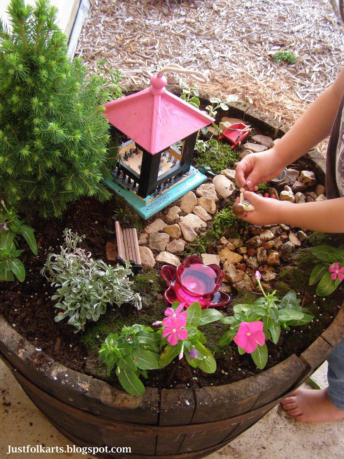Just Folk Art: Making Our Very Own Fairy Garden Part 1