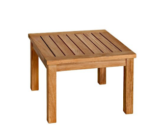 Three Birds Casual Newport 20-Inch Low Square  Side Table