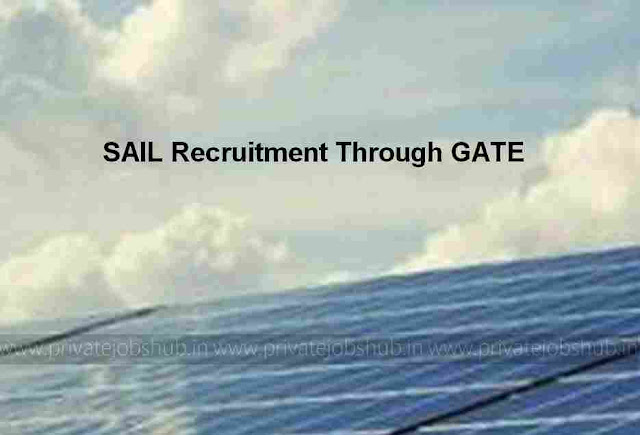 SAIL Recruitment Through GATE