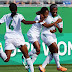 Nigerian Female Footballers Go On Their Knees To Collect Their Entitlements From The Sports Minister
