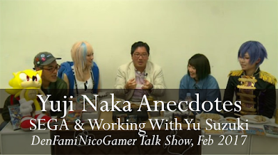 Yuji Naka Anecdotes