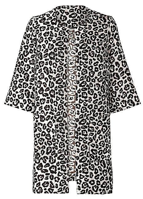 Leopard jacquard jacket