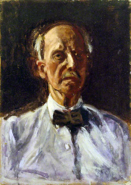Dugald Sutherland MacColl, Self Portrait, Portraits of Painters, Dugald Sutherland ,  Fine arts, Portraits of painters blog, Sutherland MacColl,  Paintings of Dugald Sutherland, Painter Dugald Sutherland MacColl