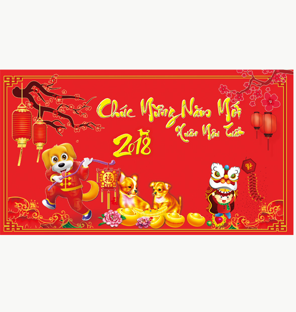 Vector Băng rôn banner tết 2018