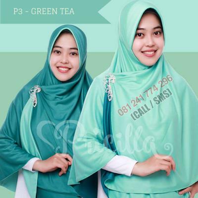 JILBAB Bolak Balik Atau Timbal Balik Original P3 - GREEN TEA
