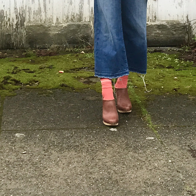 clogs with socks