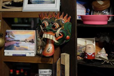 長野県駒ヶ根市 石窯ピザとパスタの店 OZ (オズ)バリ島の仮面