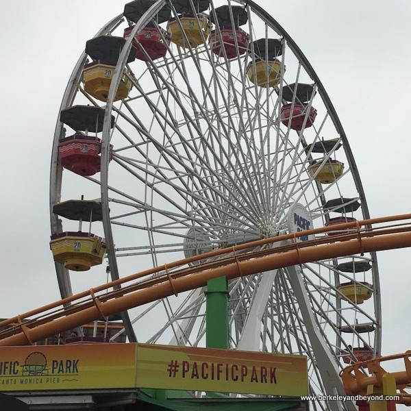solar-powered Ferris wheel on the Santa Monica Pier in Santa Monica, California