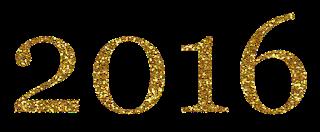 Texto 2016 dourado png
