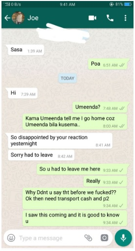 3 - Jubilee politician exposed! He banged a slay queen without protection and left her hanging (Chats and PHOTOs).