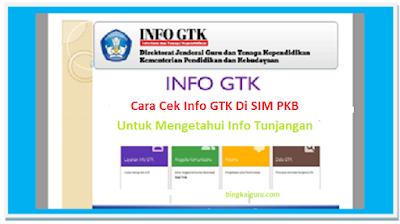 Cara Cek Info GTK Di SIM PKB Untuk Mengetahui Info Tunjangan