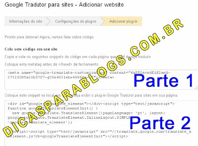 Código Google Tradutor para Sites e Blogs