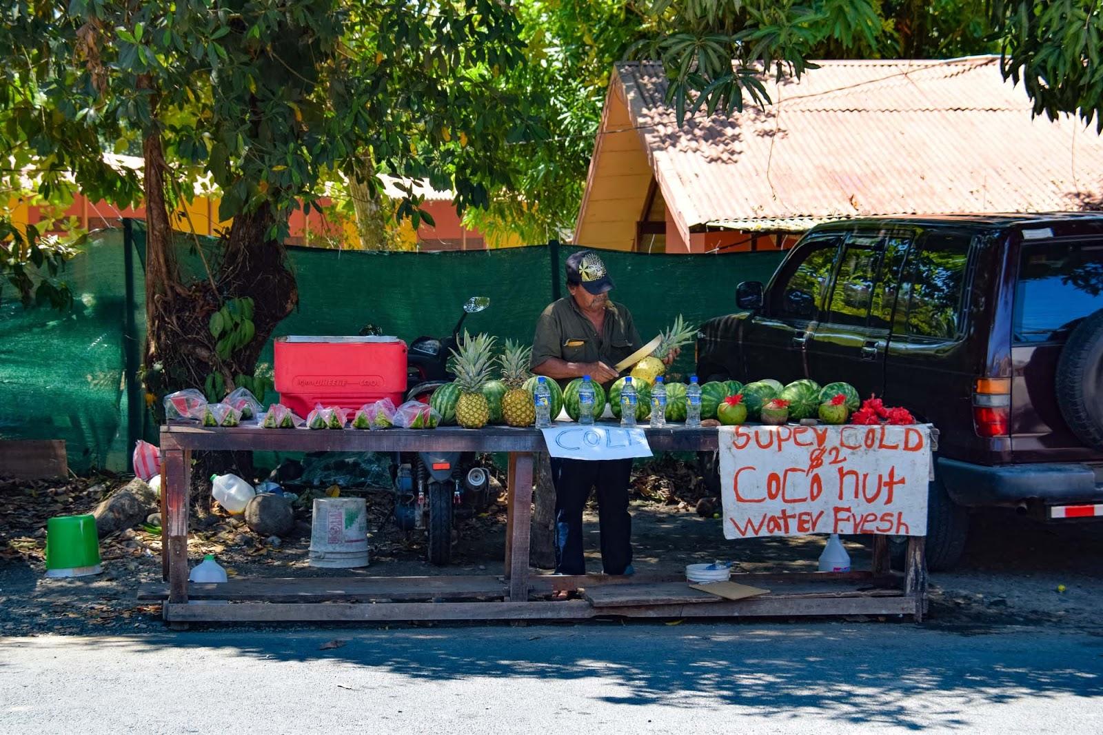 fruit stand in manuel antonio