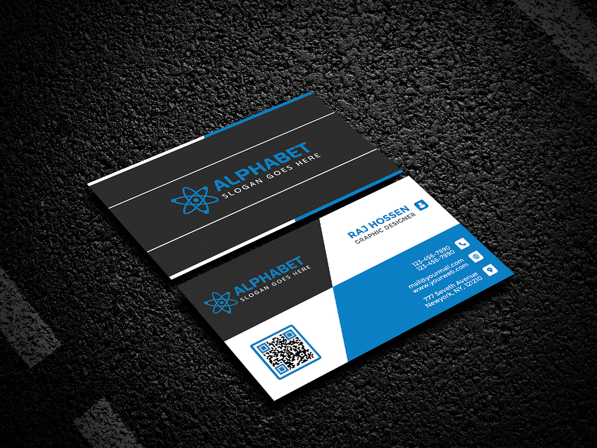 Alphabet Business Card Design 2017 - Gexton Graphics