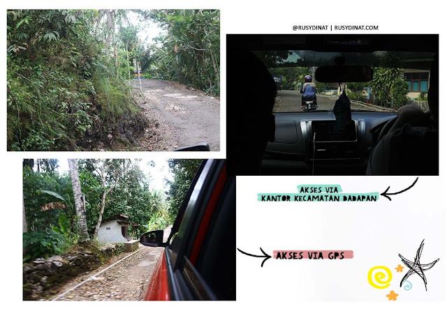 Akses menuju Desa Limasan Retreat, Pringkuku Pacitan Jawa Timur