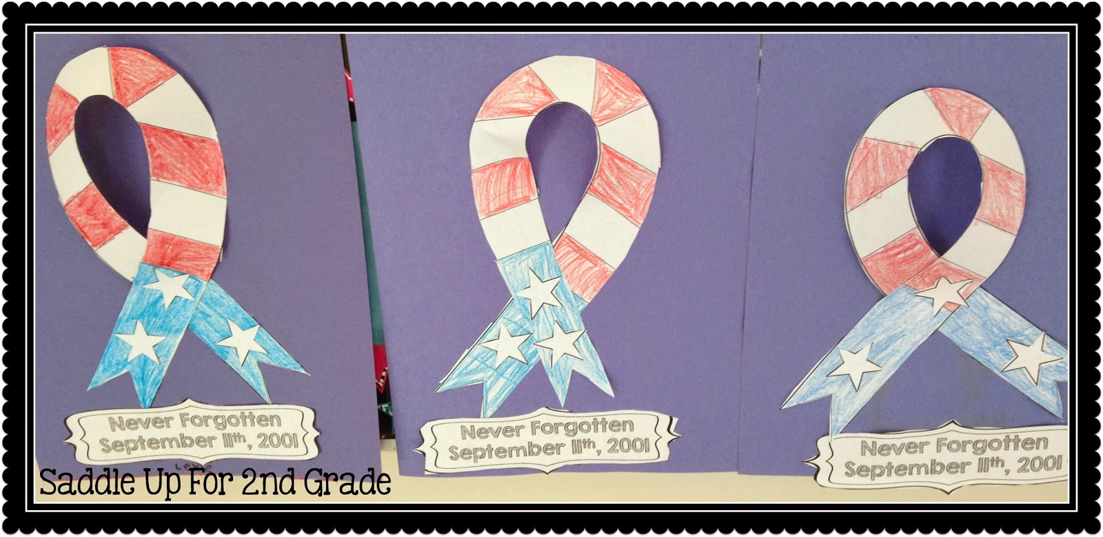 9/11 Memorial Ribbon FREEBIE by Saddle Up For 2nd Grade