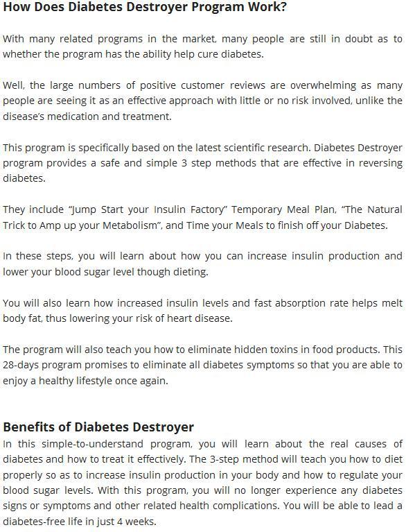 Diabetes destroyer system review david andrews ebook pdf download diabetes destroyer is a scam or legit fandeluxe Gallery