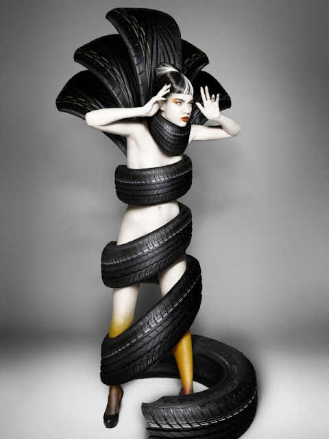 Biến hóa lạ thường của lốp xe vào thời trang