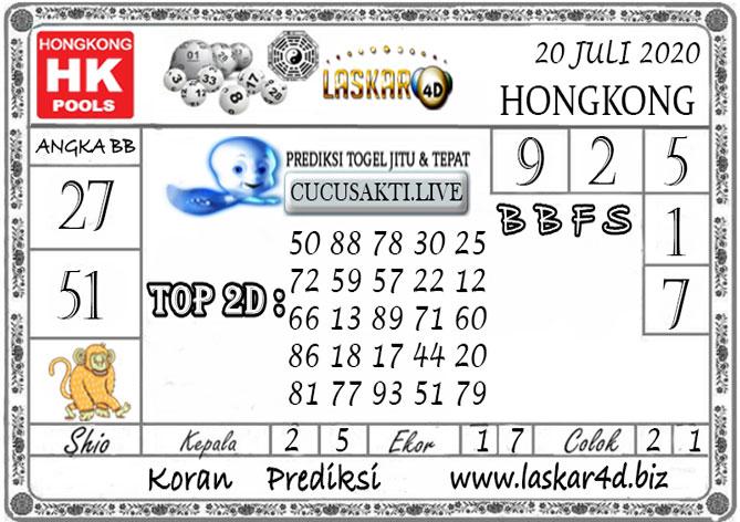 Prediksi Togel HONGKONG LASKAR4D 20 JULI 2020