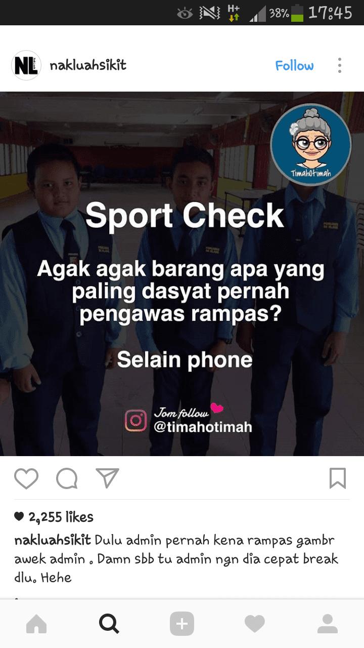 Sport Check kat sekolah ~ Wordless Wednesday