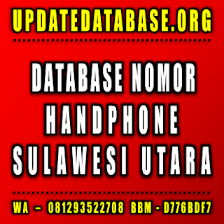 Jual Database Nomor Handphone Sulawesi Utara