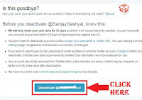 deactivate twitter account temporarily