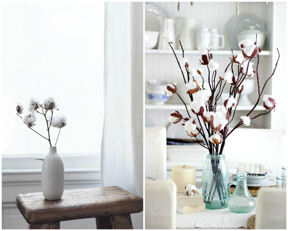 Deco: Fleurs de coton