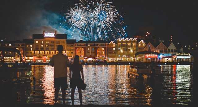 Romantic Night with Your lovely one Watching Fireworks over Cinderella castle