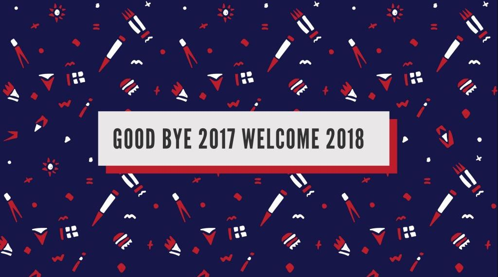 goodbye 2017 welcome 2018 photo image