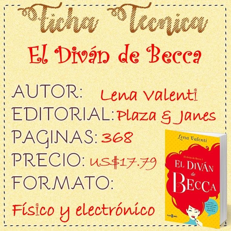 Rese a el div n de becca lena valenti for Libro el divan de becca
